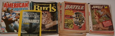 Lot 21-Jungle Stories; other comics and magazines.