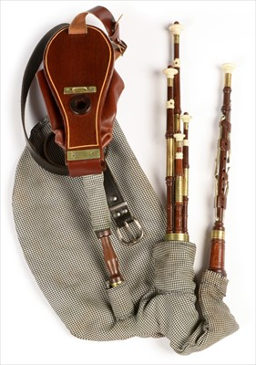 Lot 203 - Set of Northumbrian small pipes, by Brian Gumm,...