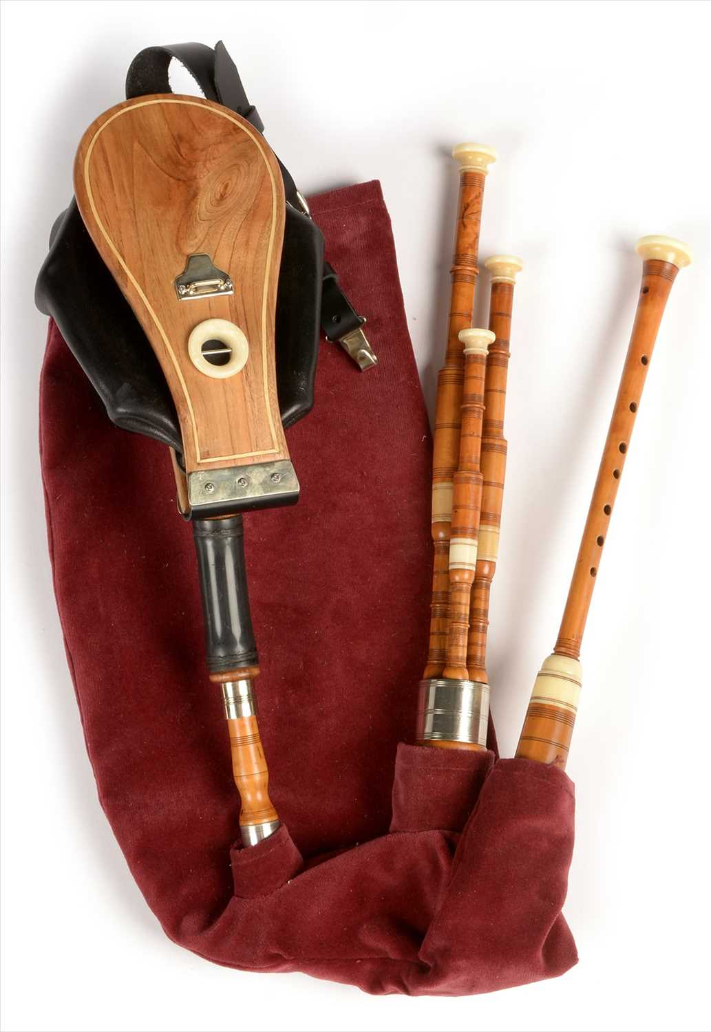 Lot 204 - Set of Scottish small pipes.