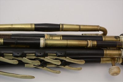 Lot 208-Set of pastoral pipes.