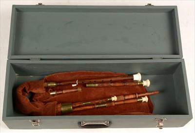 Lot 210 - Set of Scottish Border pipes.