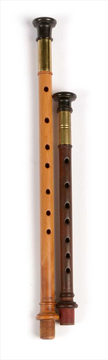 Lot 177 - Two simple chanters.