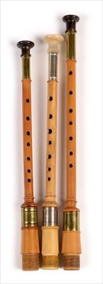 Lot 182 - Three simple chanters.