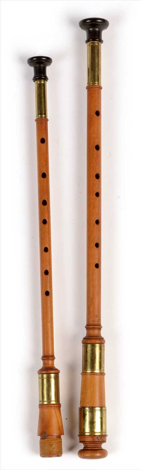 Lot 183 - Two simple chanters.