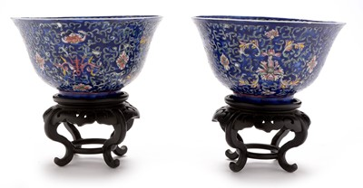 Lot 379-pair of Chinese bowls and stands.