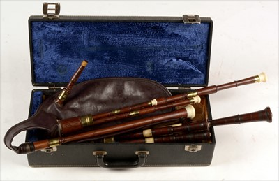 Lot 211 - Two sets of Scottish small pipes.