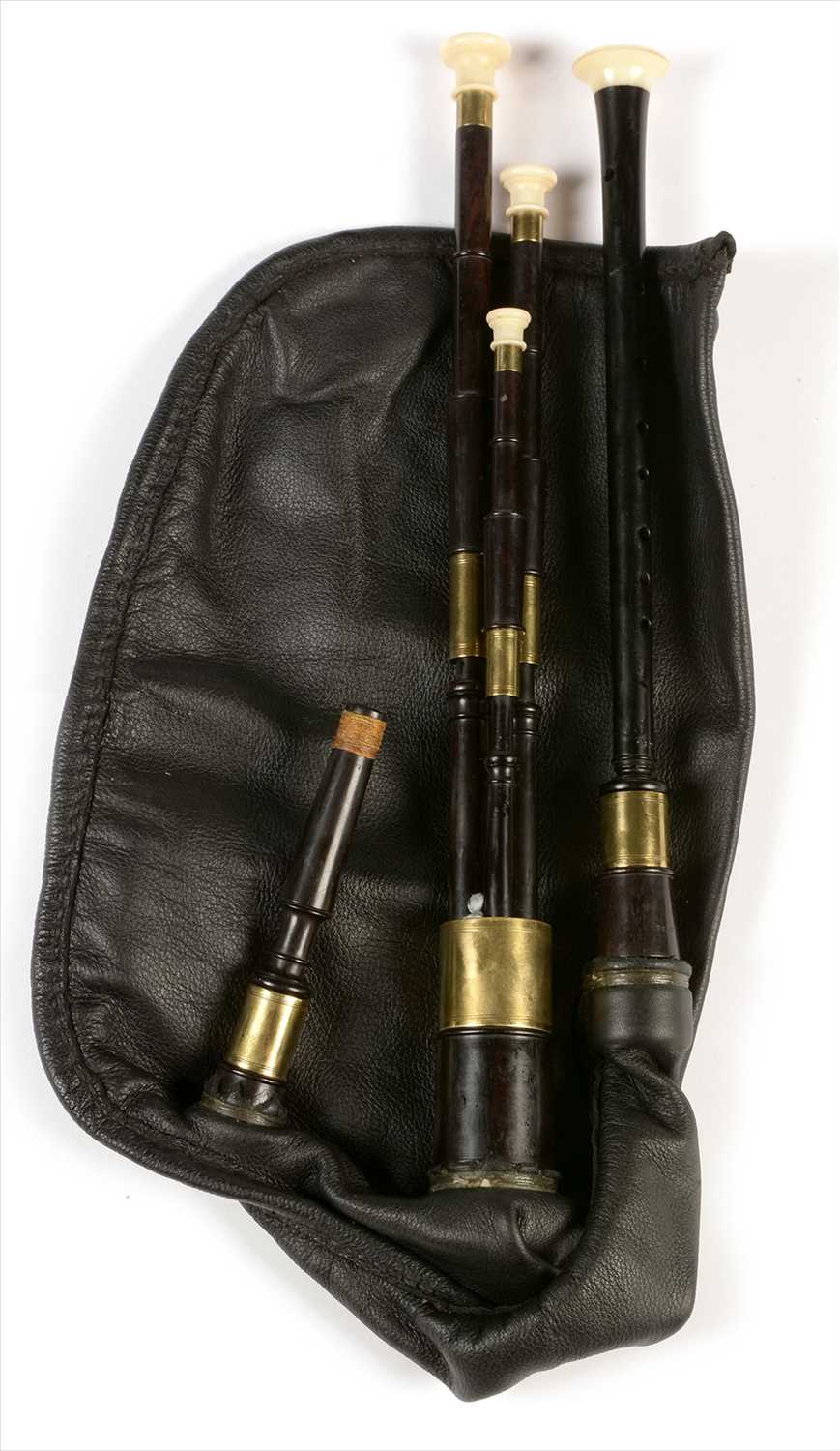 Lot 212 - Set of Scottish small pipes.