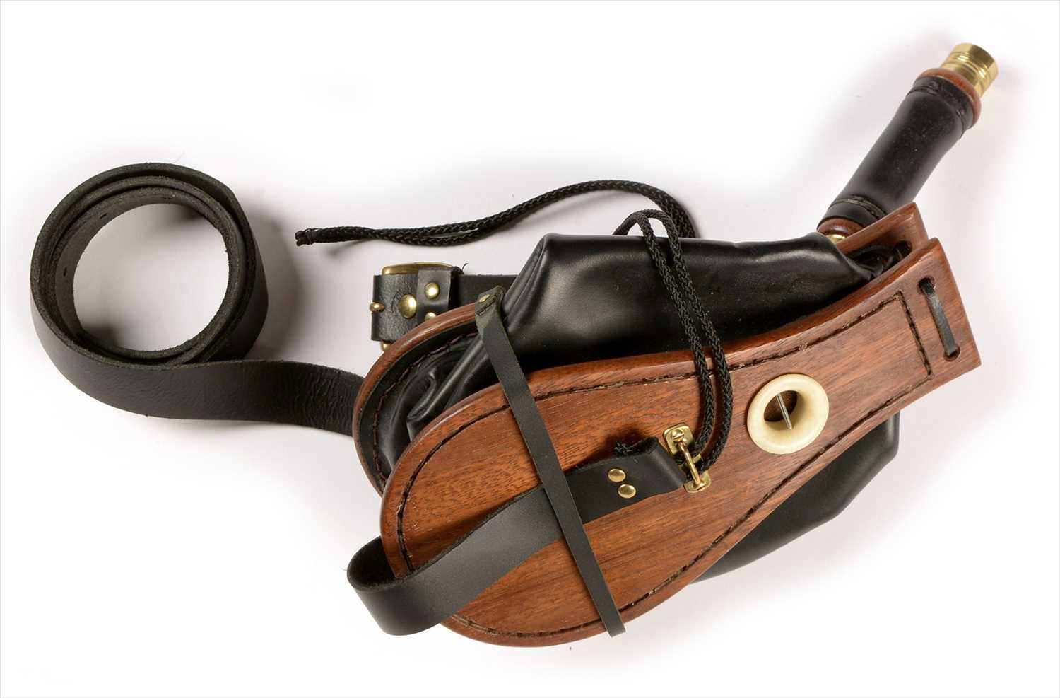 Lot 184 - Set of mahogany and leather bellows.