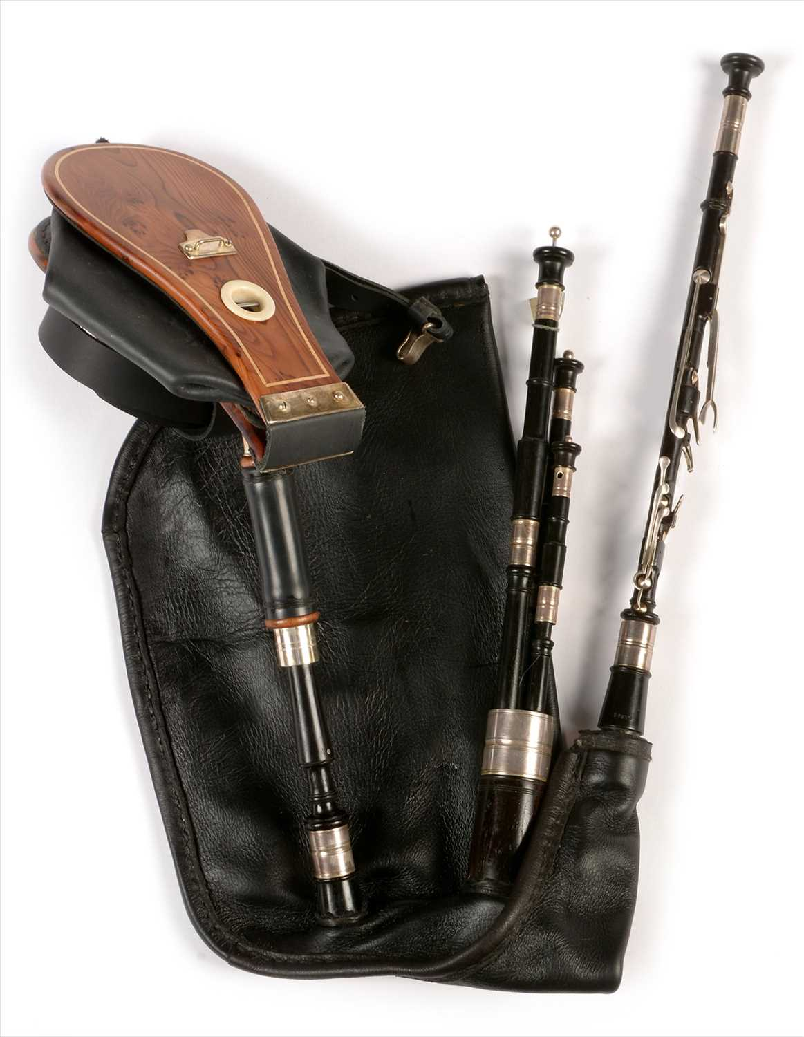 Lot 214 - Set of Northumbrian small pipes.