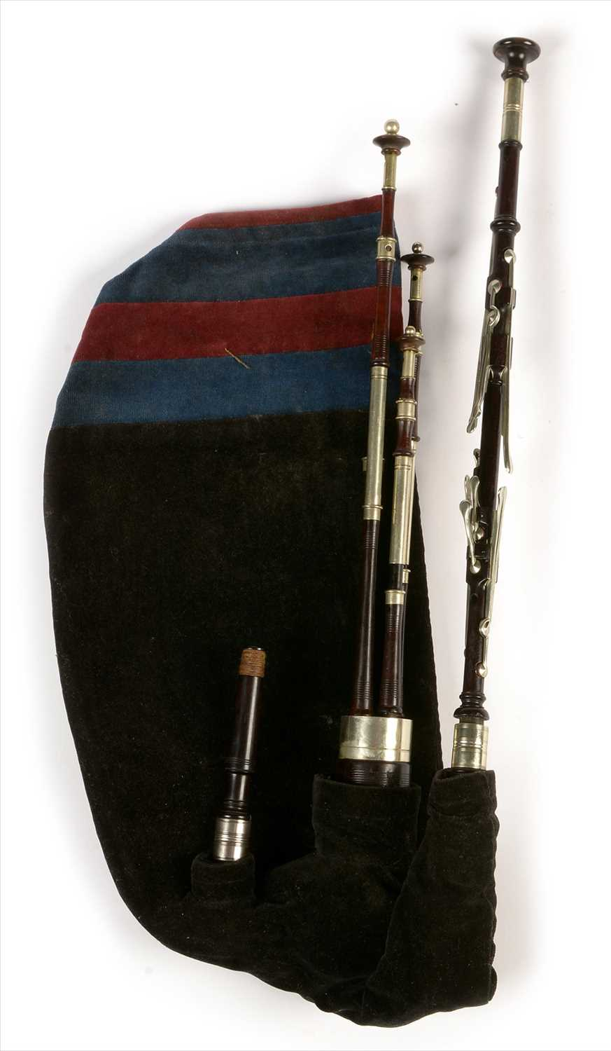 Lot 217 - Set of Northumbrian small pipes.