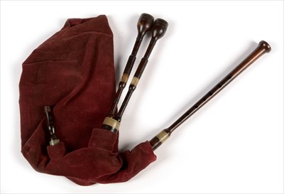 Lot 218 - Set of Scottish small pipes.