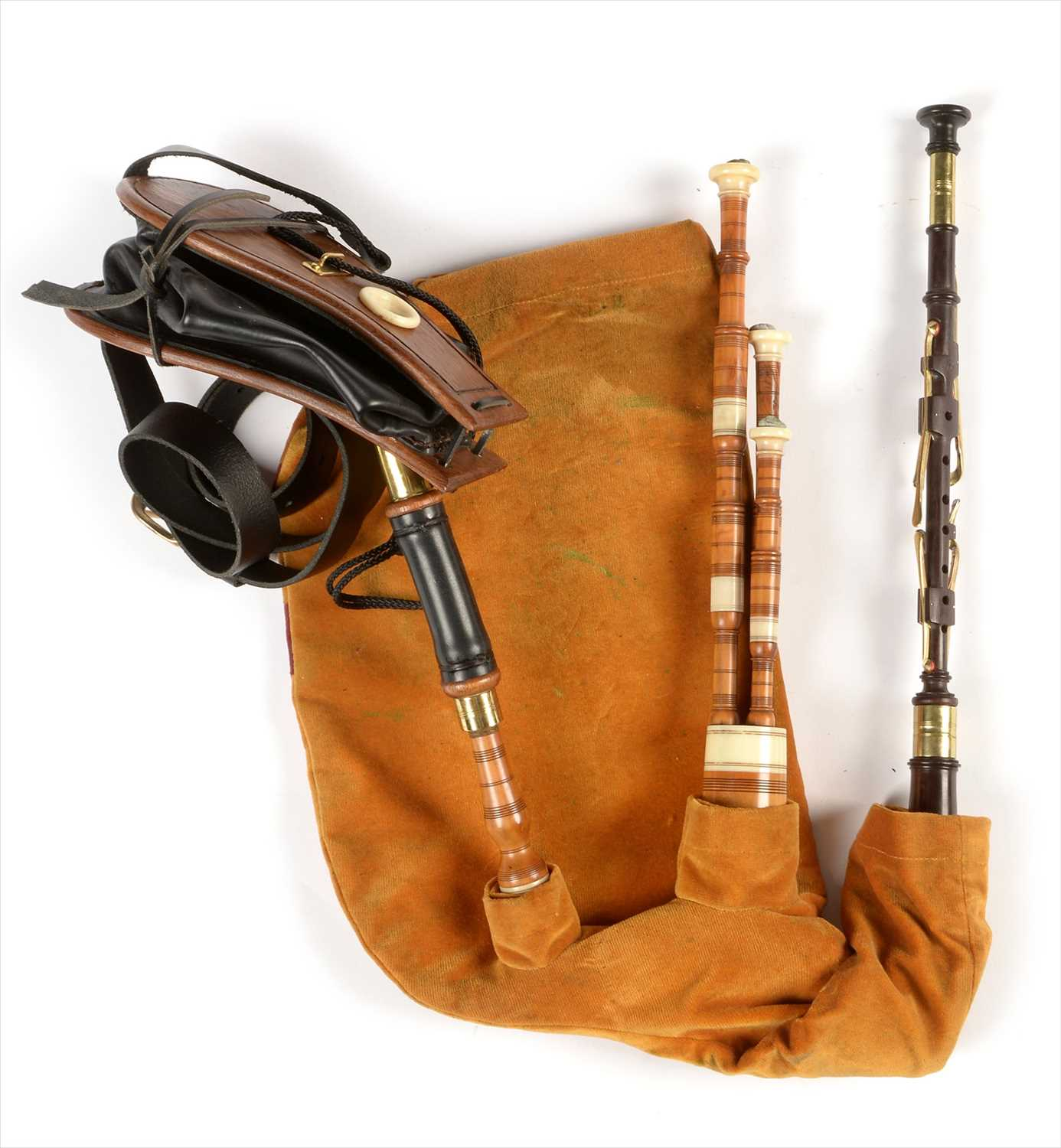 Lot 224 - Starter set of Northumbrian pipes.