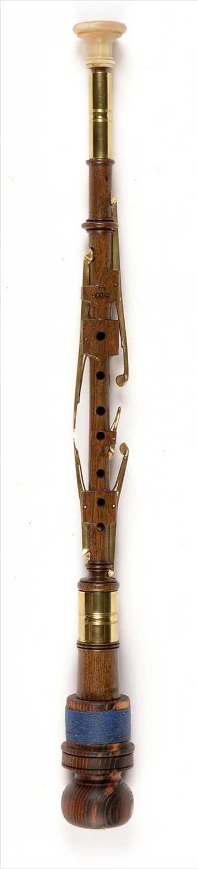 Lot 191 - Dark grained wood chanter.
