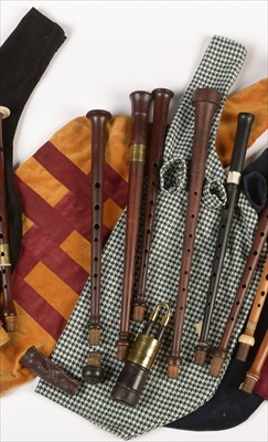 Lot 198 - Selection of twenty Border pipe and Scottish small pipe chanters.