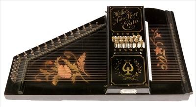 """Lot 30-Muller's auto-harp """"Erato""""."""
