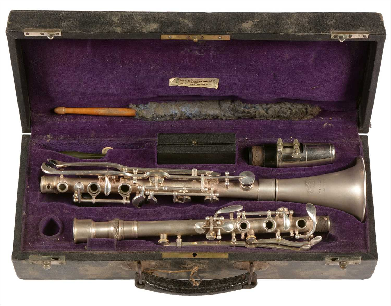 Lot 170 - Jacques Perroquet, Paris, silver metal clarinet.