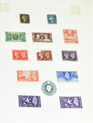 Lot 1128-Stamp collection inc 1d black