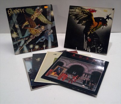 Lot 87 - Rush and Budgie LPs