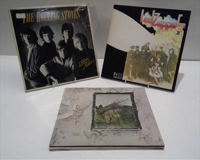 Lot 82 - Led Zeppelin and Rolling Stones LPs