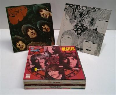 Lot 340-Beatles LPs