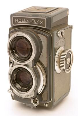 "Lot 793-Rolleiflex ""Baby"" camera and Xenar lens."