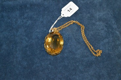 Lot 14-Citrine pendant