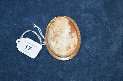Lot 17-Shell cameo brooch