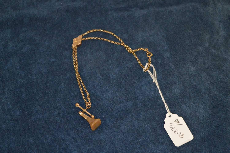 Lot 15 - Yellow metal watch chain