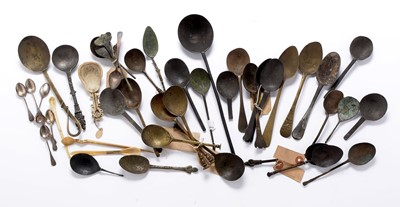 Lot 239 - A collection of antique spoons