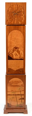 Lot 1146 - Art Deco marquetry clock