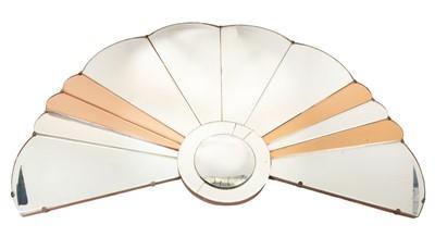 Lot 1132 - Art Deco coloured glass mirror