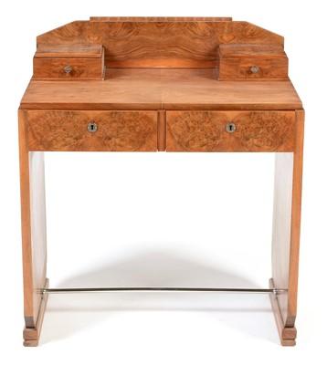 Lot 1194 - Art Deco walnut desk