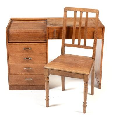 Lot 1195 - Art Deco Tambour fronted desk