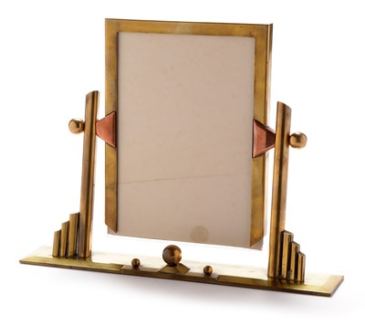 Lot 1144 - Art Deco brass and copper photograph frame