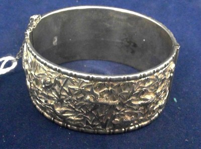 Lot 4-Chinese silver bangle