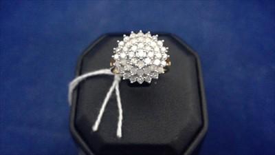 Lot 455-Diamond dress ring