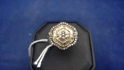 Lot 457-Diamond dress ring