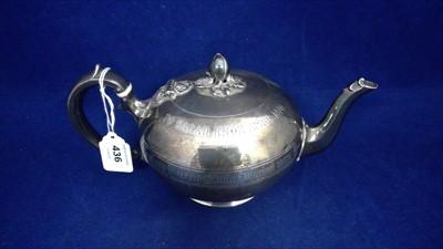 Lot 436-Silver teapot
