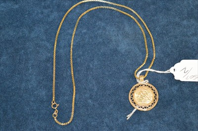 Lot 5-Half sovereign pendant