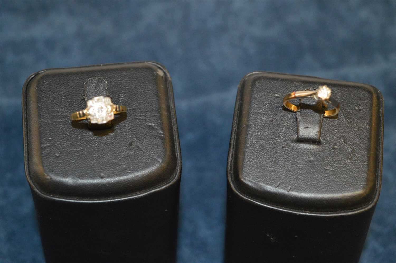 Lot 6 - Two diamond rings