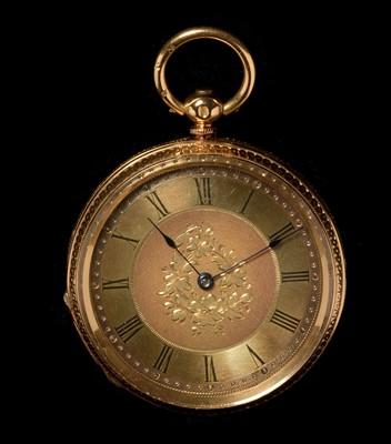 Lot 45 - 18ct gold pocket watch