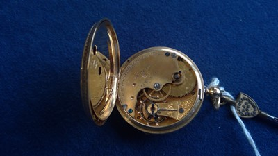 Lot 9-18ct gold pocket watch