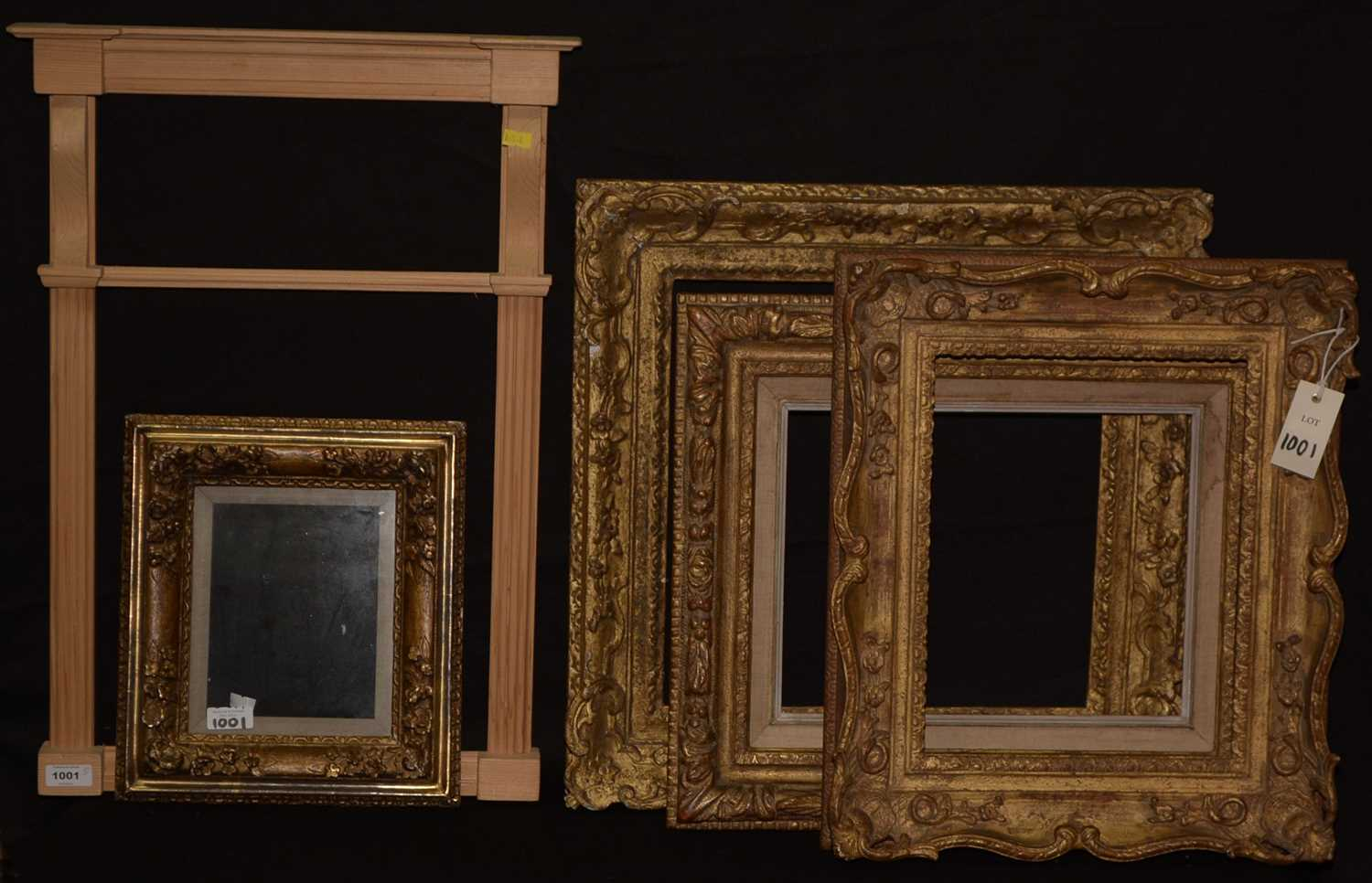 Lot 1001-Four picture frames; and a mirror frame.