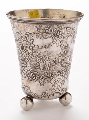 Lot 342 - Two Dutch silver beakers