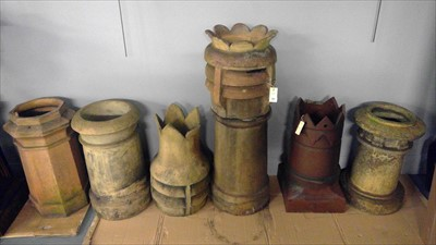 Lot 321 - chimney pots