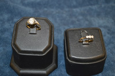 Lot 30-Two diamond rings