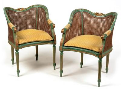 Lot 1053 - 19th Century salon chairs
