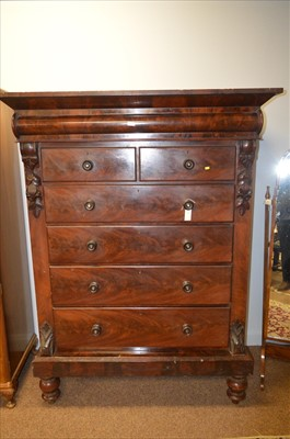 Lot 480 - Mahogany Scotch chest.