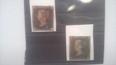 Lot 1164-Two penny blacks