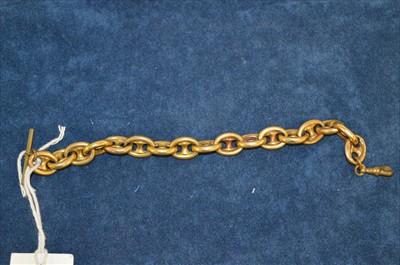 Lot 29-Victorian yellow metal bracelet